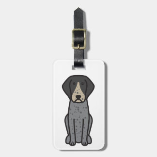 Bluetick Coonhound Dog Cartoon Luggage Tags