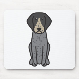 Bluetick Coonhound Dog Cartoon Mousepads