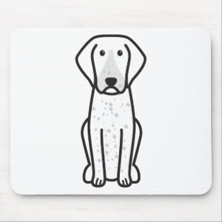 Bluetick Coonhound Dog Cartoon Mouse Pads