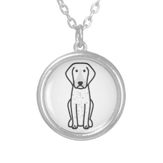 Bluetick Coonhound Dog Cartoon Necklaces