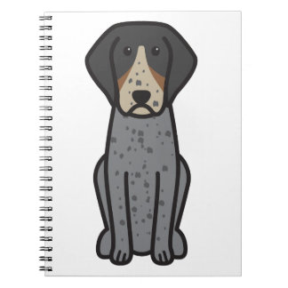 Bluetick Coonhound Dog Cartoon Spiral Note Book