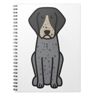 Bluetick Coonhound Dog Cartoon Notebooks
