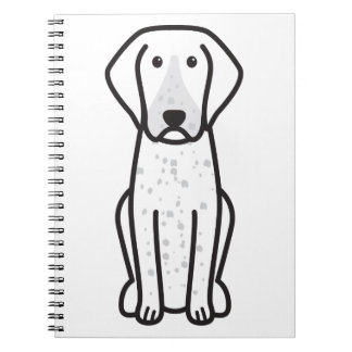 Bluetick Coonhound Dog Cartoon Note Books