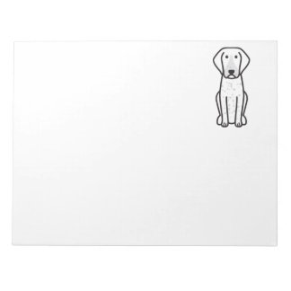 Bluetick Coonhound Dog Cartoon Note Pads