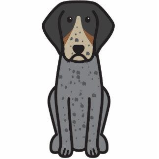 Bluetick Coonhound Dog Cartoon Cut Outs