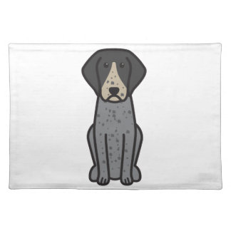 Bluetick Coonhound Dog Cartoon Placemat