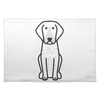 Bluetick Coonhound Dog Cartoon Placemats