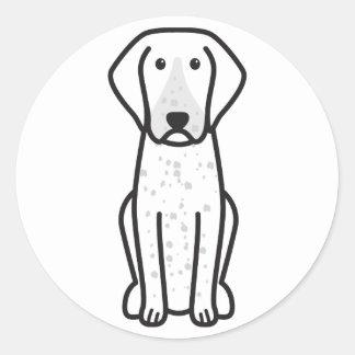 Bluetick Coonhound Dog Cartoon Round Sticker
