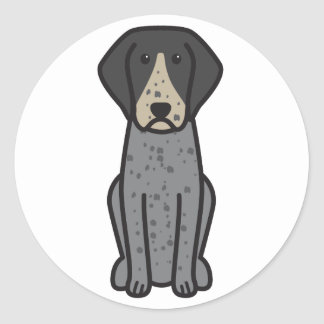 Bluetick Coonhound Dog Cartoon Stickers