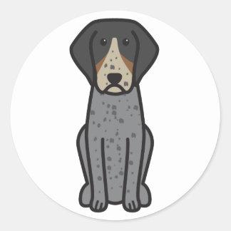 Bluetick Coonhound Dog Cartoon Round Stickers