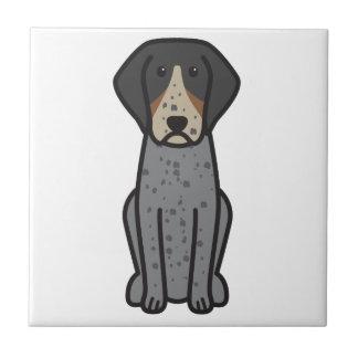 Bluetick Coonhound Dog Cartoon Tile
