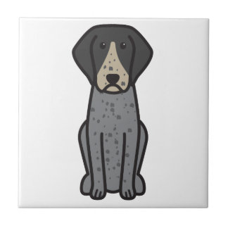 Bluetick Coonhound Dog Cartoon Tiles