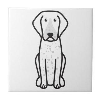 Bluetick Coonhound Dog Cartoon Tiles