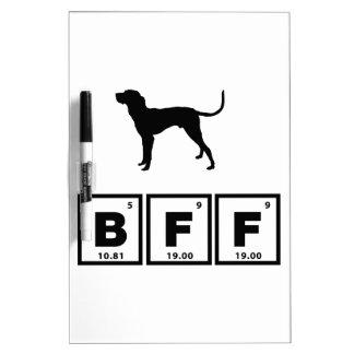 Bluetick Coonhound Dry Erase Whiteboard