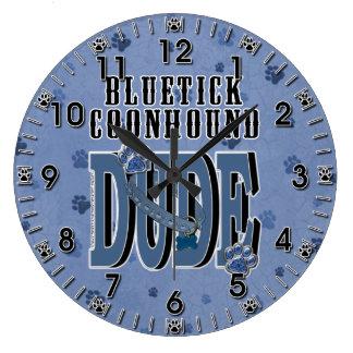 Bluetick Coonhound DUDE Wallclock