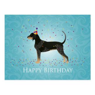 Bluetick Coonhound Happy Birthday Design Postcard