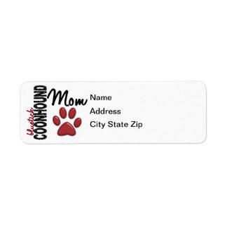 Bluetick Coonhound Mom 2 Return Address Label