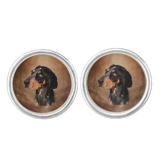 Bluetick Coonhound Pair of Cufflinks