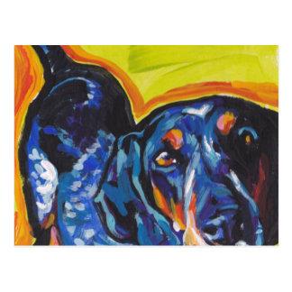 Bluetick Coonhound Pop Art Postcard