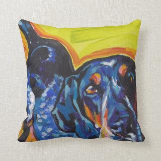 Bluetick Coonhound Pop Art Throw Pillow