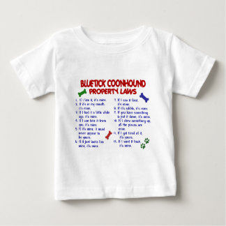 BLUETICK COONHOUND Property Laws 2 Tee Shirts