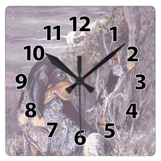 Bluetick Coonhound Puppy Dreamer Clock