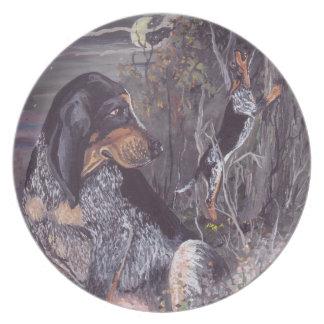 Bluetick Coonhound Puppy Dreamer Plates