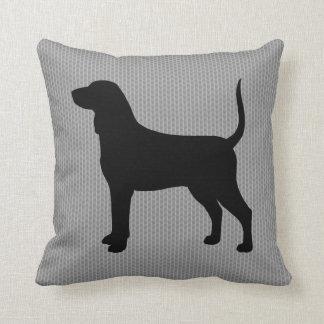 Bluetick Coonhound Silhouette Cushion