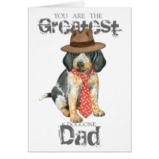 Bluetick Dad Greeting Card