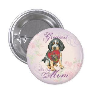 Bluetick Heart Mom 3 Cm Round Badge