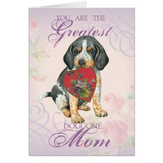 Bluetick Heart Mom Greeting Card