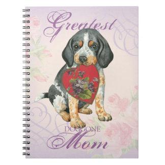 Bluetick Heart Mom Notebooks