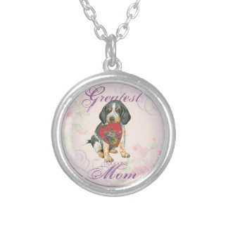 Bluetick Heart Mom Silver Plated Necklace