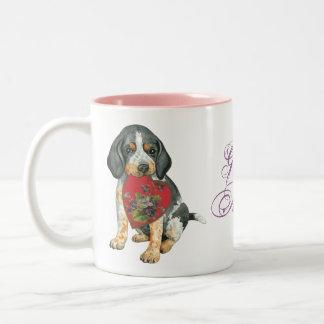 Bluetick Heart Mom Two-Tone Coffee Mug