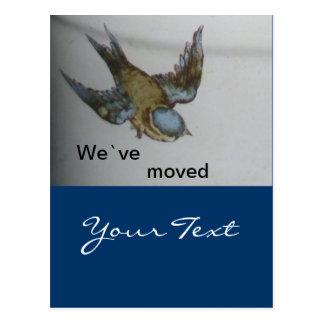 bluetit-wir sind umgezogen post card