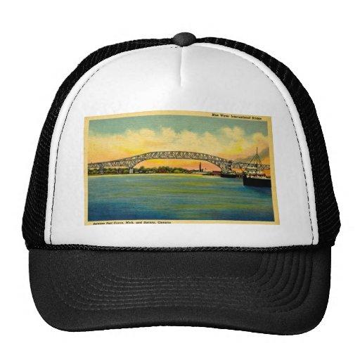 Bluewater Bridge Port Huron Michigan Trucker Hat