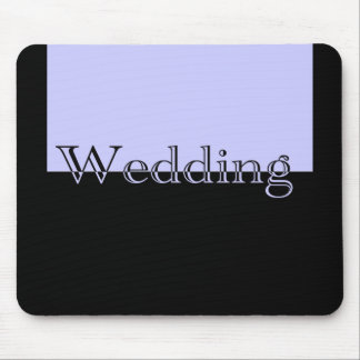 BlueWith Black Wedding Mouse Pad