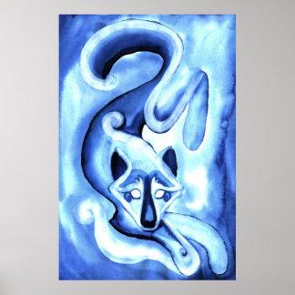 Bluewolf Spirit Poster
