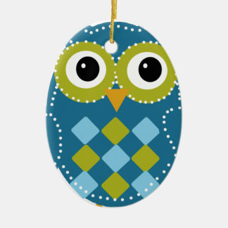 Blue'Z  the Adorable Owl Christmas Ornament