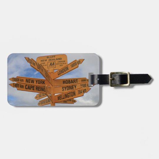 Bluff, New Zealand Luggage Tag