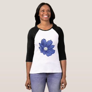 Bluish Blooming Flower T-Shirt