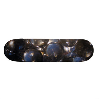 Bluish Glass Pebbles - abstract photograph Skateboard Deck