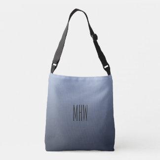Bluish Gray Gradient custom monogram bags
