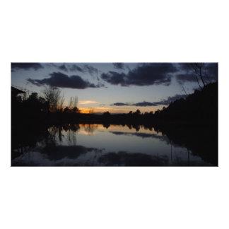 Bluish Photo Card