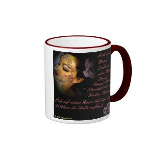 Blume der Liebe auf der Haut Kaffee Tassen