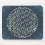 Blume des Lebens / Flower Of Life | silver radial Mouse Pad