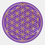 Blume des Lebens | klein / violet BG Sticker
