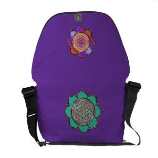 Blume des Lebens - LOTUS BLÜTEN türkis violett Commuter Bags