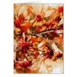 Blumen orange braun grußkarten