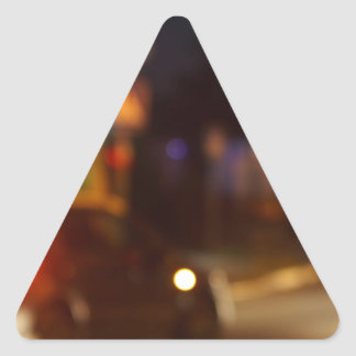 Blur and defocused lights from the headlights of c triangle sticker